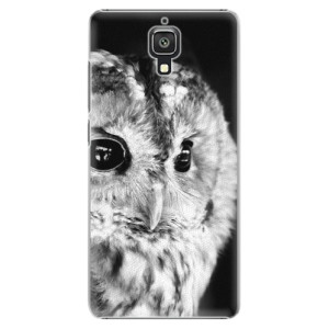 Plastové pouzdro iSaprio BW Owl na mobil Xiaomi Mi4