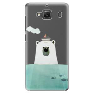 Plastové pouzdro iSaprio Bear With Boat na mobil Xiaomi Redmi 2