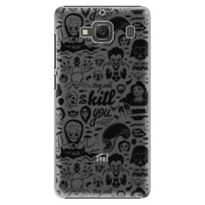 Plastové pouzdro iSaprio Comics 01 black na mobil Xiaomi Redmi 2