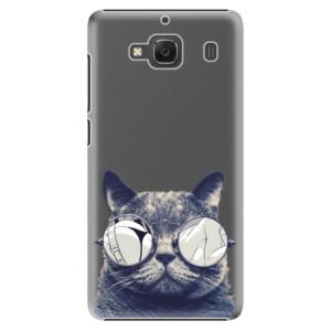 Plastové pouzdro iSaprio Crazy Cat 01 na mobil Xiaomi Redmi 2
