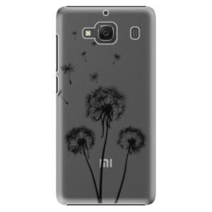 Plastové pouzdro iSaprio Three Dandelions black na mobil Xiaomi Redmi 2