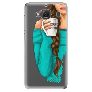 Plastové pouzdro iSaprio My Coffe and Brunette Girl na mobil Xiaomi Redmi 2