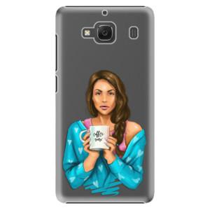 Plastové pouzdro iSaprio Coffe Now Brunette na mobil Xiaomi Redmi 2