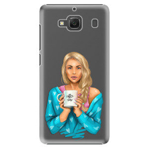 Plastové pouzdro iSaprio Coffe Now Blond na mobil Xiaomi Redmi 2