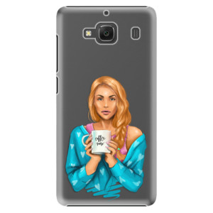 Plastové pouzdro iSaprio Coffe Now Redhead na mobil Xiaomi Redmi 2