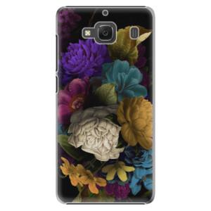 Plastové pouzdro iSaprio Dark Flowers na mobil Xiaomi Redmi 2