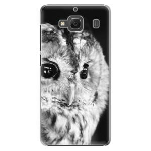 Plastové pouzdro iSaprio BW Owl na mobil Xiaomi Redmi 2