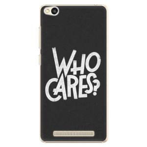 Plastové pouzdro iSaprio Who Cares na mobil Xiaomi Redmi 3