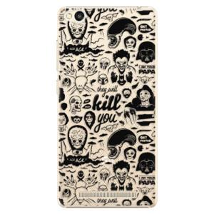 Plastové pouzdro iSaprio Comics 01 black na mobil Xiaomi Redmi 3
