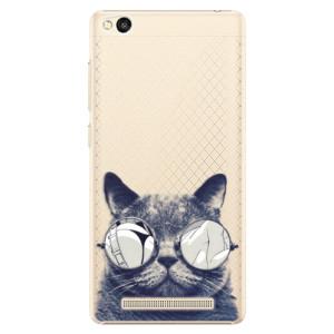Plastové pouzdro iSaprio Crazy Cat 01 na mobil Xiaomi Redmi 3