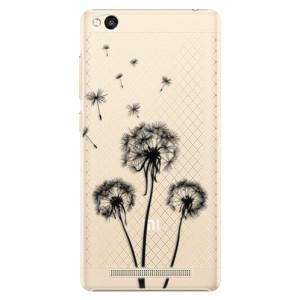 Plastové pouzdro iSaprio Three Dandelions black na mobil Xiaomi Redmi 3