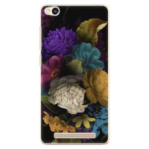 Plastové pouzdro iSaprio Dark Flowers na mobil Xiaomi Redmi 3