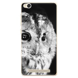 Plastové pouzdro iSaprio BW Owl na mobil Xiaomi Redmi 3