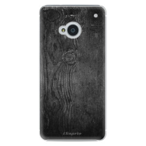 Plastové pouzdro iSaprio Black Wood 13 na mobil HTC One M7
