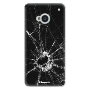 Plastové pouzdro iSaprio Broken Glass 10 na mobil HTC One M7