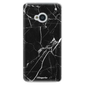 Plastové pouzdro iSaprio Black Marble 18 na mobil HTC One M7