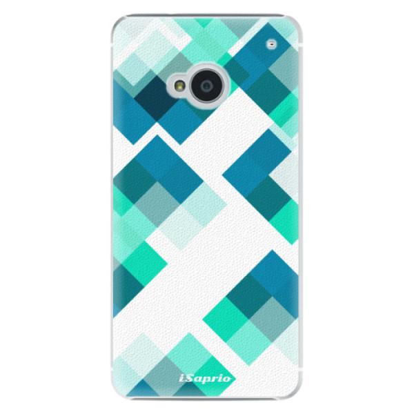 Plastové pouzdro iSaprio Abstract Squares 11 na mobil HTC One M7 (Plastový obal, kryt, pouzdro iSaprio Abstract Squares 11 na mobilní telefon HTC One M7)