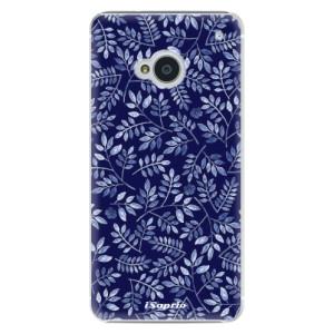 Plastové pouzdro iSaprio Blue Leaves 05 na mobil HTC One M7