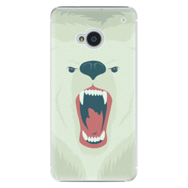 Plastové pouzdro iSaprio Angry Bear na mobil HTC One M7 (Plastový obal, kryt, pouzdro iSaprio Angry Bear na mobilní telefon HTC One M7)