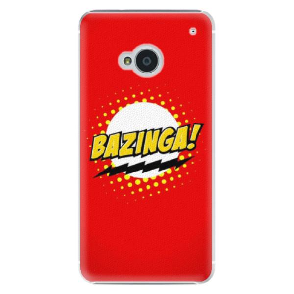 Plastové pouzdro iSaprio Bazinga 01 na mobil HTC One M7 (Plastový obal, kryt, pouzdro iSaprio Bazinga 01 na mobilní telefon HTC One M7)