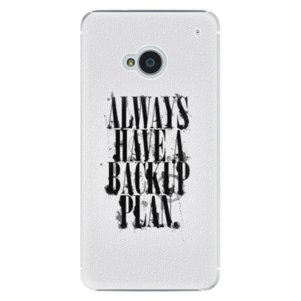 Plastové pouzdro iSaprio Backup Plan na mobil HTC One M7 (Plastový obal, kryt, pouzdro iSaprio Backup Plan na mobilní telefon HTC One M7)