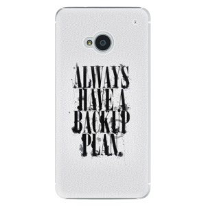 Plastové pouzdro iSaprio Backup Plan na mobil HTC One M7