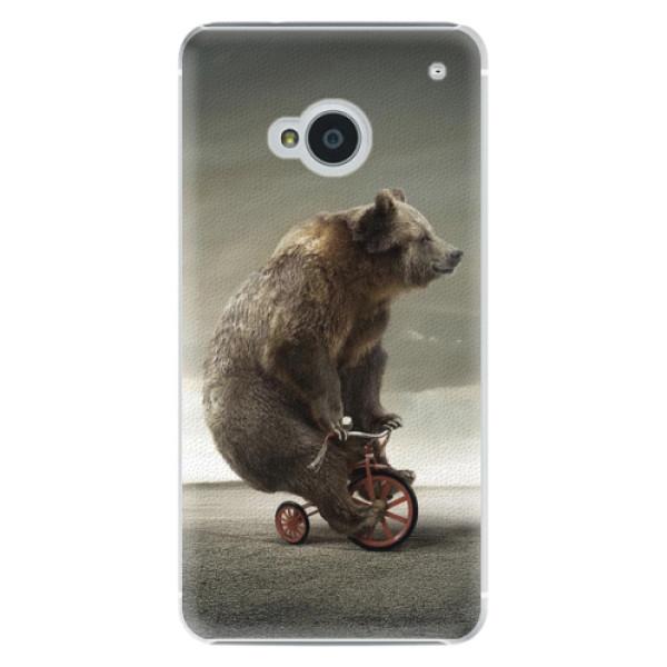 Plastové pouzdro iSaprio Bear 01 na mobil HTC One M7 (Plastový obal, kryt, pouzdro iSaprio Bear 01 na mobilní telefon HTC One M7)