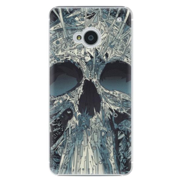Plastové pouzdro iSaprio Abstract Skull na mobil HTC One M7 (Plastový obal, kryt, pouzdro iSaprio Abstract Skull na mobilní telefon HTC One M7)