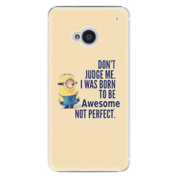 Plastové pouzdro iSaprio Be Awesome na mobil HTC One M7 (Plastový obal, kryt, pouzdro iSaprio Be Awesome na mobilní telefon HTC One M7)