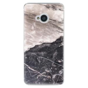 Plastové pouzdro iSaprio BW Marble na mobil HTC One M7
