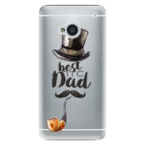 Plastové pouzdro iSaprio Best Dad na mobil HTC One M7
