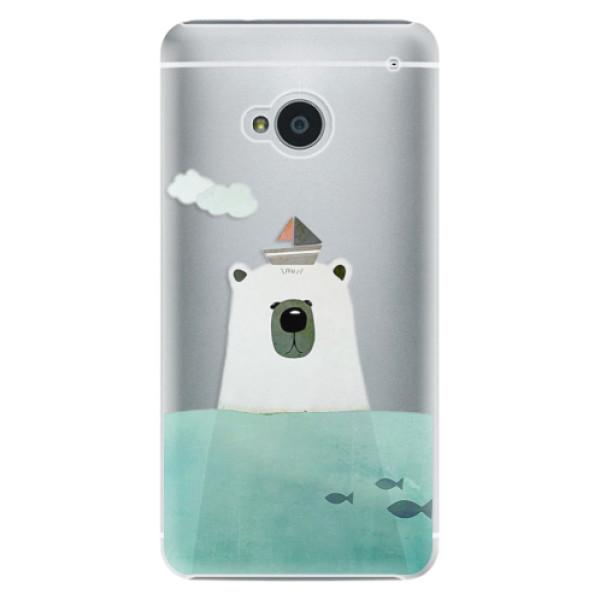 Plastové pouzdro iSaprio Bear With Boat na mobil HTC One M7 (Plastový obal, kryt, pouzdro iSaprio Bear With Boat na mobilní telefon HTC One M7)