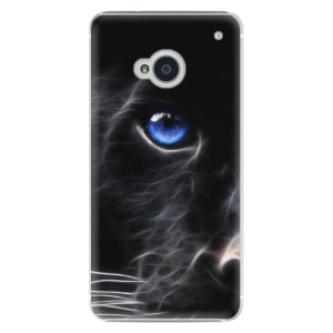 Plastové pouzdro iSaprio Black Puma na mobil HTC One M7