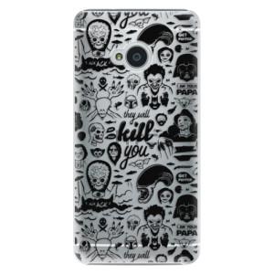 Plastové pouzdro iSaprio Comics 01 black na mobil HTC One M7