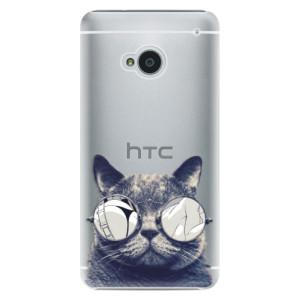Plastové pouzdro iSaprio Crazy Cat 01 na mobil HTC One M7