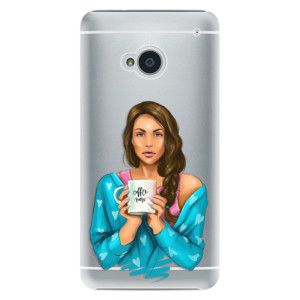 Plastové pouzdro iSaprio Coffe Now Brunette na mobil HTC One M7