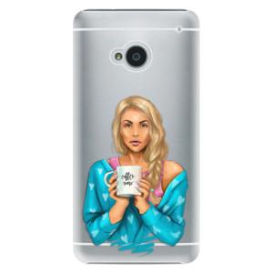 Plastové pouzdro iSaprio Coffe Now Blond na mobil HTC One M7