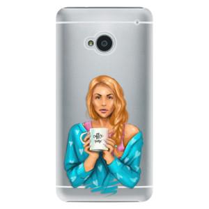 Plastové pouzdro iSaprio Coffe Now Redhead na mobil HTC One M7