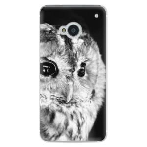 Plastové pouzdro iSaprio BW Owl na mobil HTC One M7