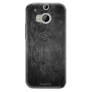 Plastové pouzdro iSaprio Black Wood 13 na mobil HTC One M8