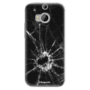 Plastové pouzdro iSaprio Broken Glass 10 na mobil HTC One M8