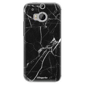 Plastové pouzdro iSaprio Black Marble 18 na mobil HTC One M8