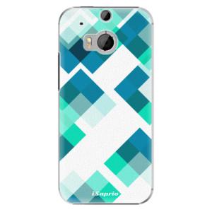 Plastové pouzdro iSaprio Abstract Squares 11 na mobil HTC One M8
