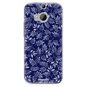 Plastové pouzdro iSaprio Blue Leaves 05 na mobil HTC One M8