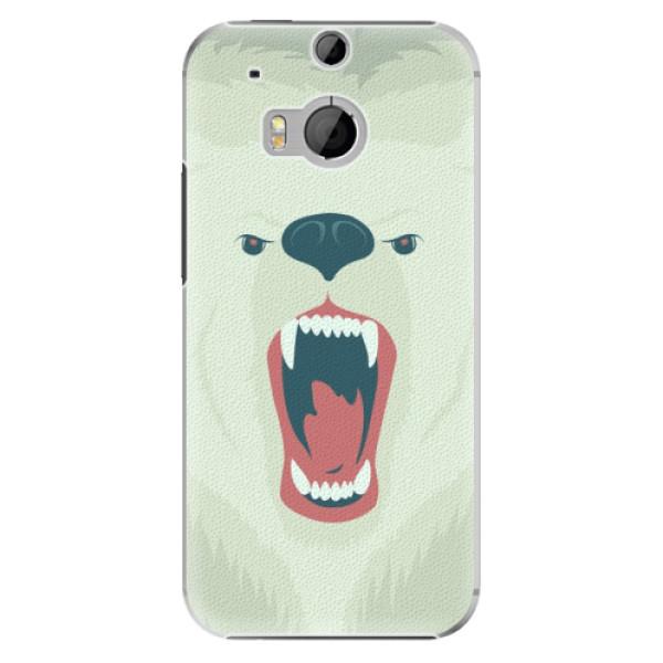 Plastové pouzdro iSaprio Angry Bear na mobil HTC One M8 (Plastový obal, kryt, pouzdro iSaprio Angry Bear na mobilní telefon HTC One M8)