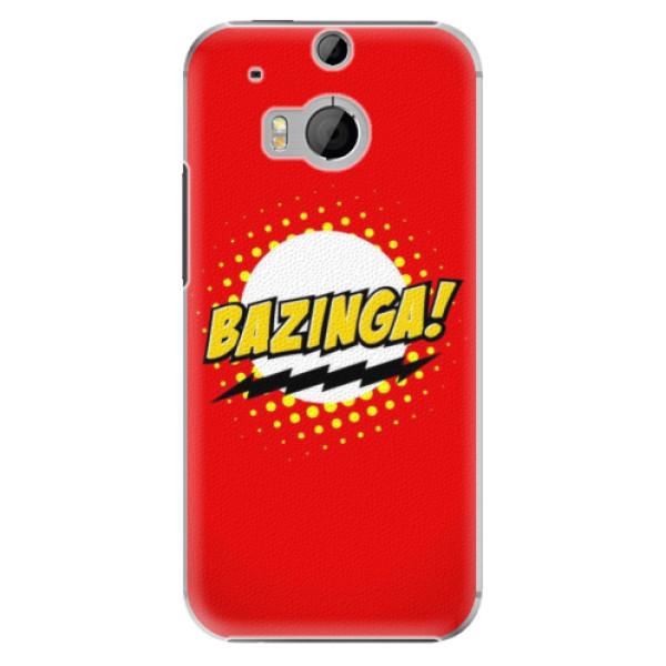 Plastové pouzdro iSaprio Bazinga 01 na mobil HTC One M8 (Plastový obal, kryt, pouzdro iSaprio Bazinga 01 na mobilní telefon HTC One M8)