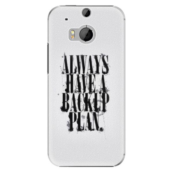Plastové pouzdro iSaprio Backup Plan na mobil HTC One M8 (Plastový obal, kryt, pouzdro iSaprio Backup Plan na mobilní telefon HTC One M8)