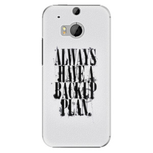 Plastové pouzdro iSaprio Backup Plan na mobil HTC One M8
