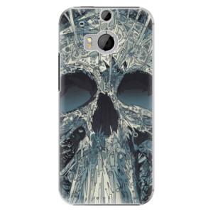 Plastové pouzdro iSaprio Abstract Skull na mobil HTC One M8