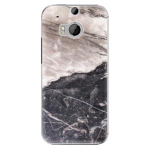 Plastové pouzdro iSaprio BW Marble na mobil HTC One M8